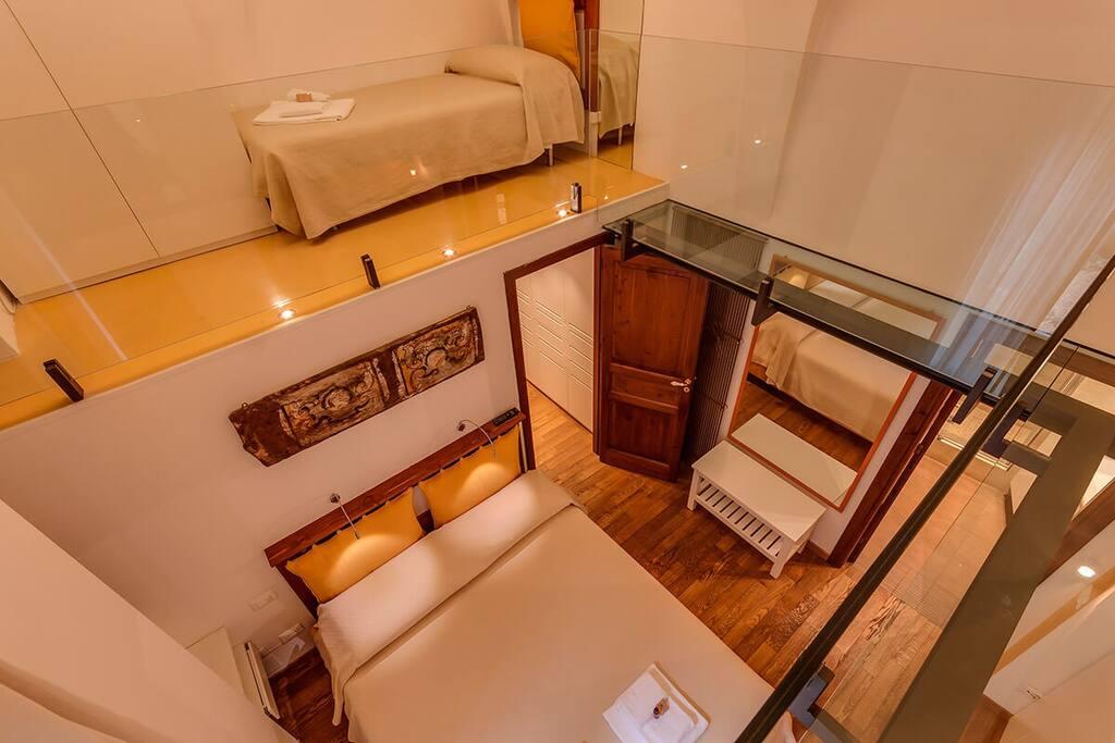 Double bedroom with mezzanine