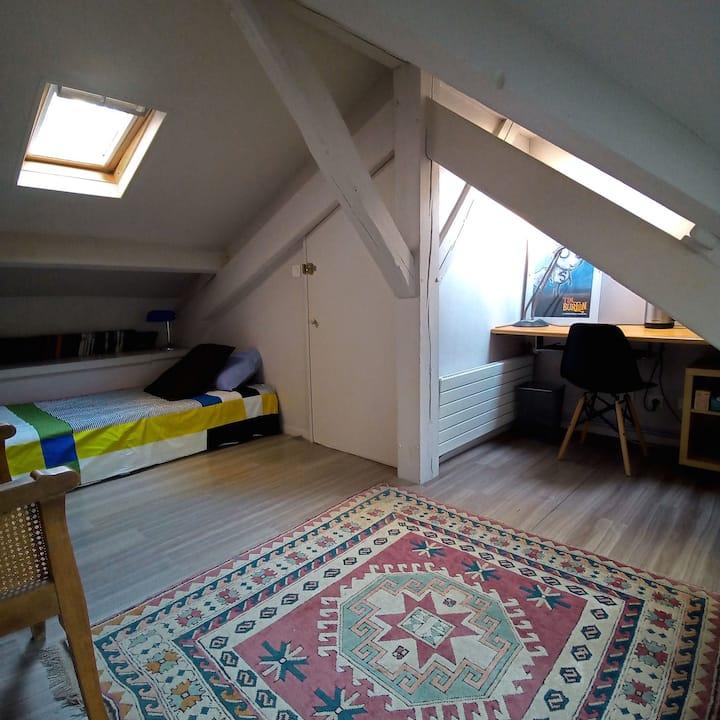 Une chambre sous les toits de Paris