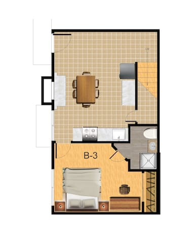 B-3 Master Bedroom with private bath