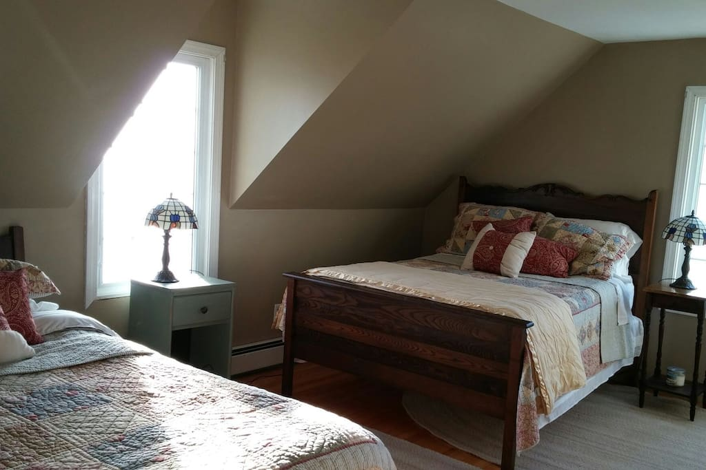 Forsman Guest Room Queen and Double Beds.