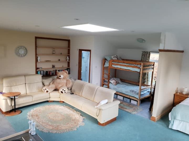 Plas Gwyn Riverside Studio, tennis, fishing, BBQ