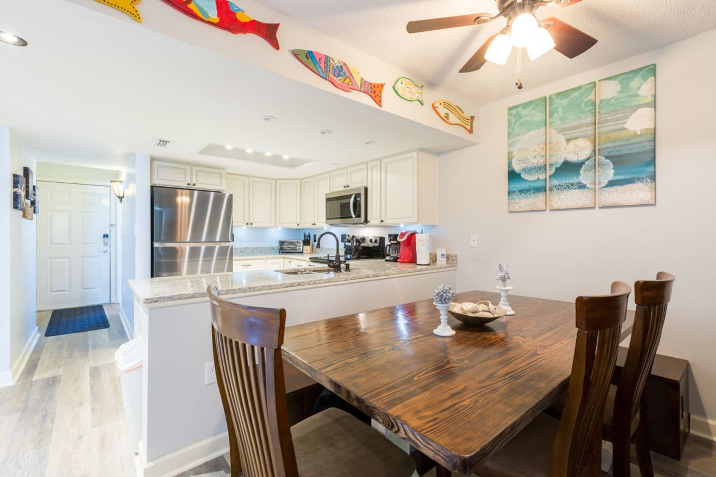Kitchen totally remodeled February 2018, all new stainless appliances & granite