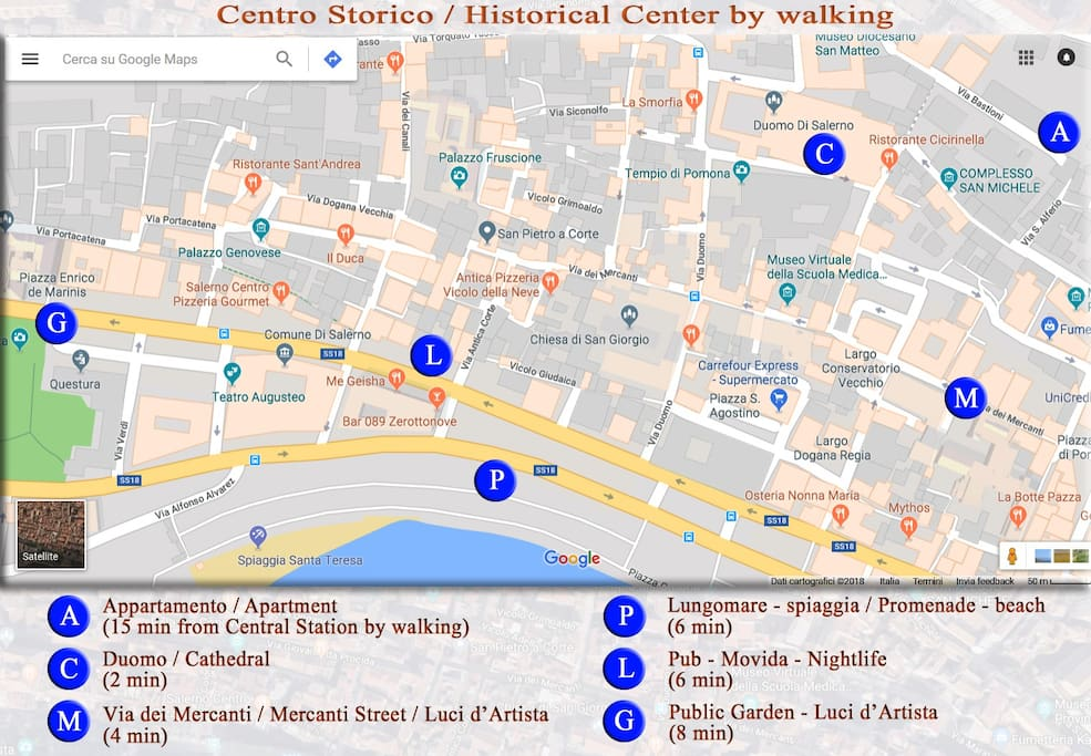 Centro Storico / Historical Center by walking