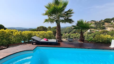 Stunning villa with sea views and private pool