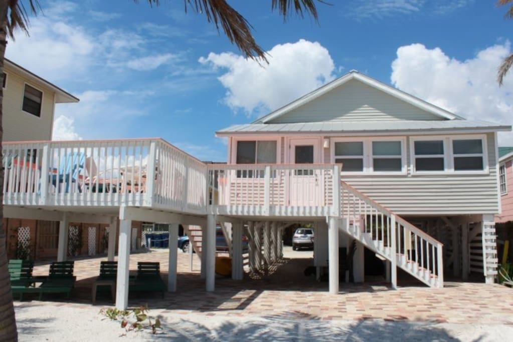 Margarita cottage 2 br beachfront case in affitto a fort for Piani di casa cottage florida