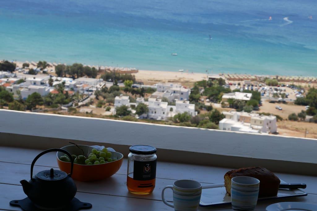 Breakfast overlooking Saint Peter's great beach