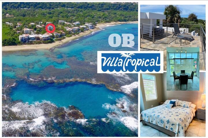"Villa Tropical's Ocean Blue House ""OB""@Shacksbeach"