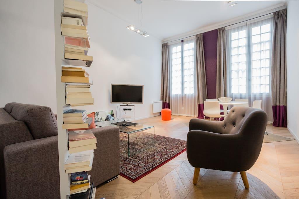 Tr s bel appartement design de 60m2 apartments for rent for 60m2 apartment design