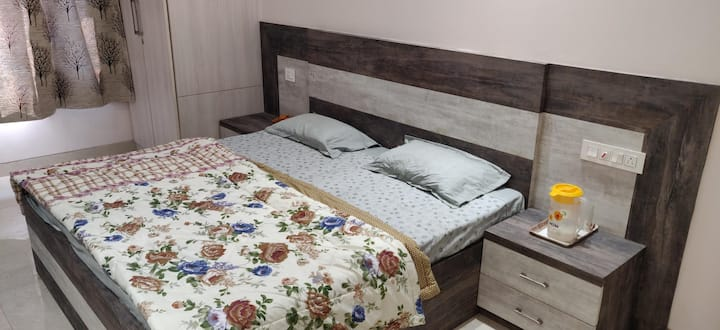 An Upscale Spacious Bedroom in South Delhi