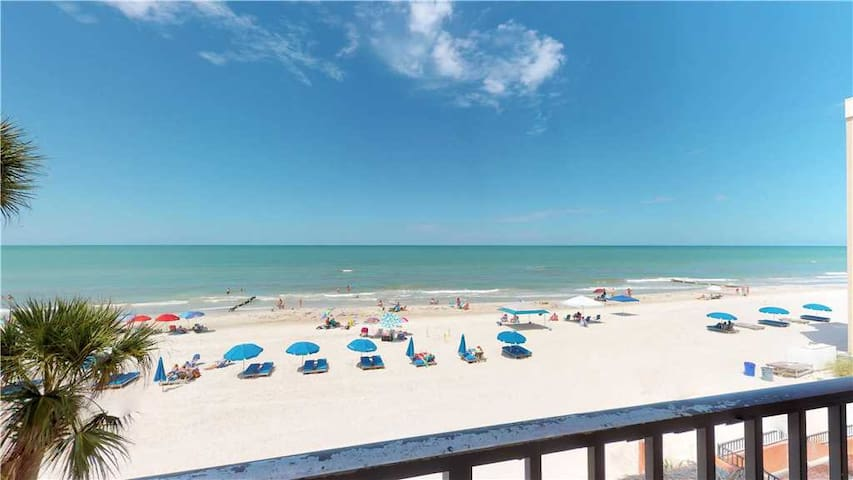 Unobstructed Beach & Gulf Views from Large Family Friendly Unit - Free Wifi - #205 Las Brisas Condo