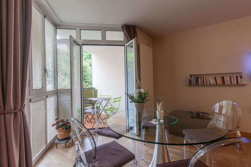 The living room gives you access to a private and quiet terrace
