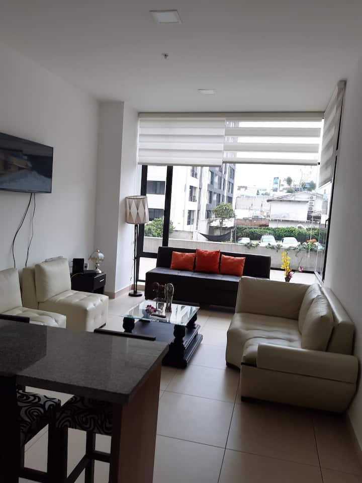 Suite amoblada de lujo en la mejor Zona de Quito.