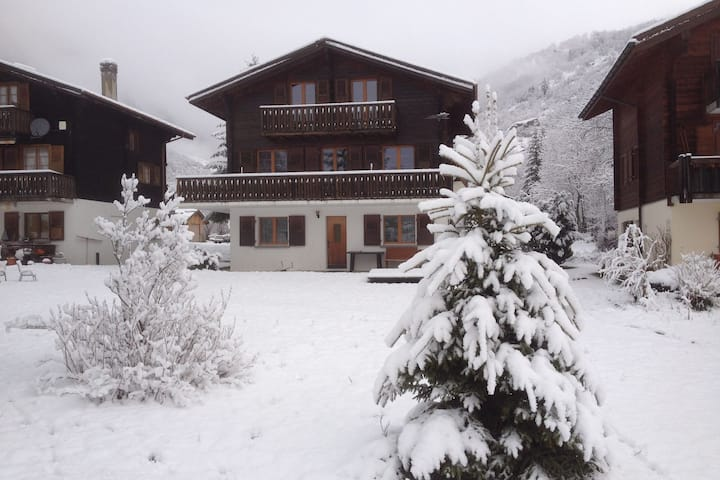 """Chalet """"Kirsanna"""" is a free-standing chalet, facing south."""