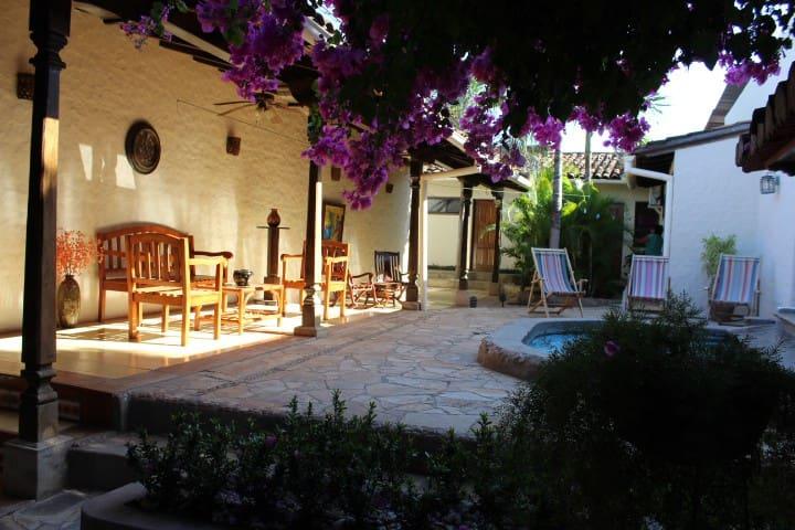 Beautiful large courtyard