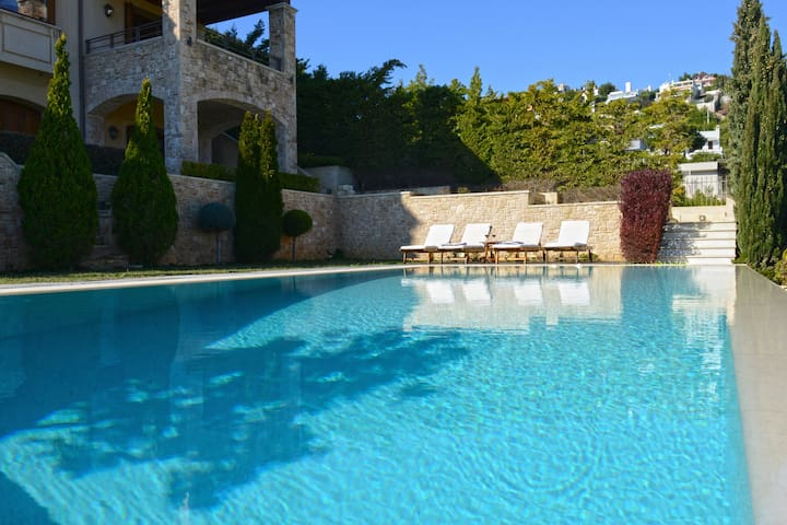 Villa Marina - Luxury villa with pool and sea-view - Neos Voutzas - Vila