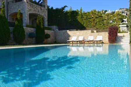 Villa Marina - Luxury villa with pool and sea-view - Neos Voutzas - 别墅