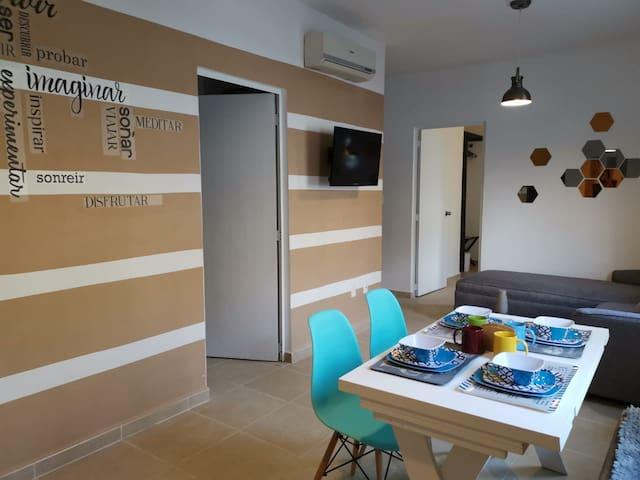 Depto. moderno y confortable en Playa del Carmen