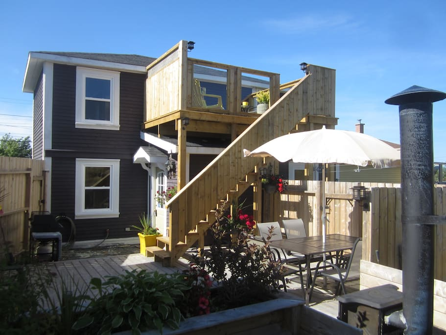 Back decks - upper and lower