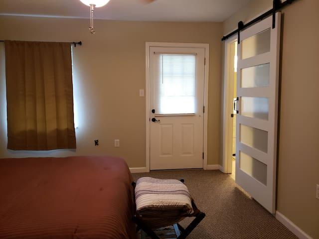Master bedroom right of hallway