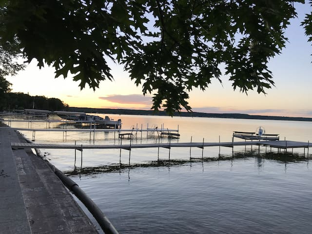 The waterfront at sunset