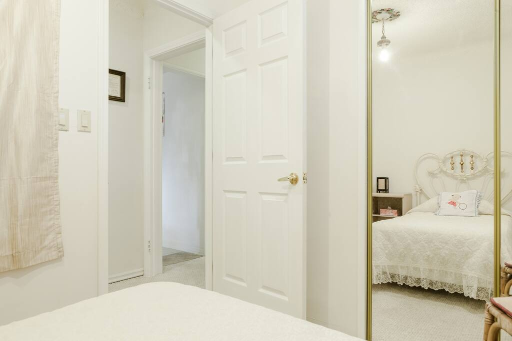 convenient, bath room next door