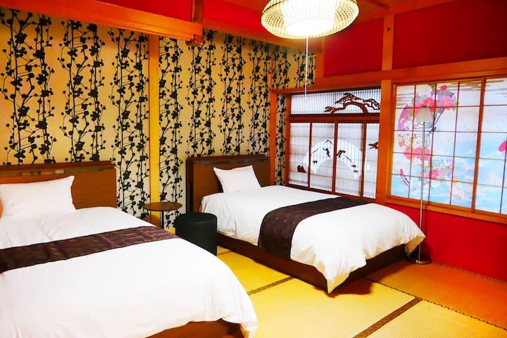 Onsen Villa■Near the Ski resort,Kanazawa,Shirakawa