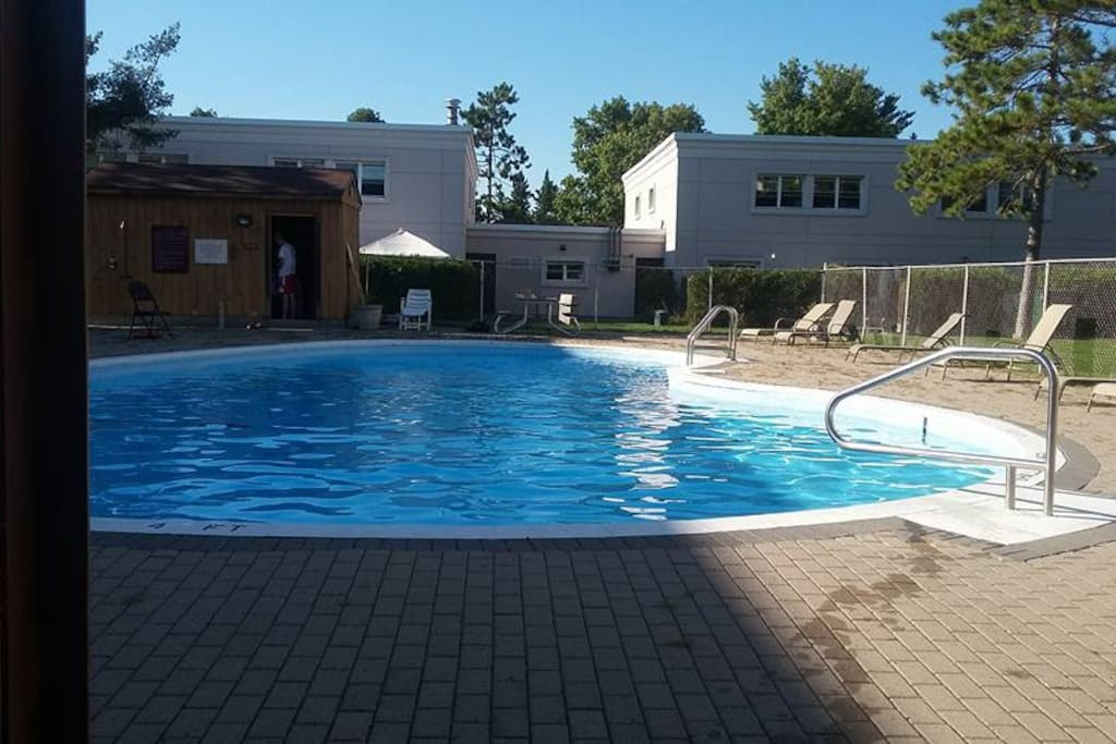 outdoor pool open during the summer months