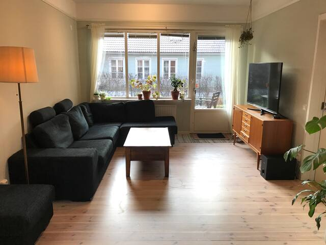 Spacious apartment close nature reserve and city.
