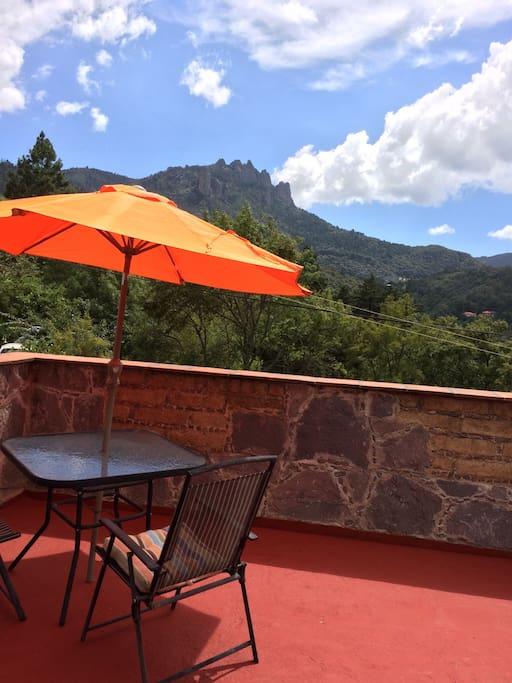 Maravillosa vista desde la terraza privada.