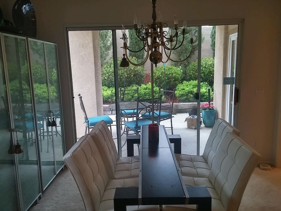 Dining Room with views of outdoor dining / living space