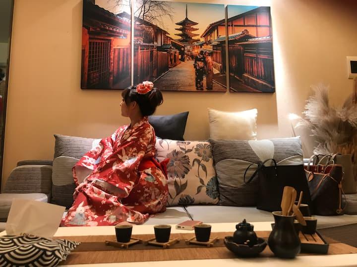 【时光•里Y】中街大悦城/中街故宫/中街恒隆附近「日式雅居」一居室