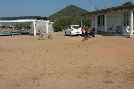 Beautiful beach bungalow with pool. - Casa