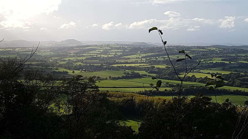 View from Wenlock Edge just a short walk away