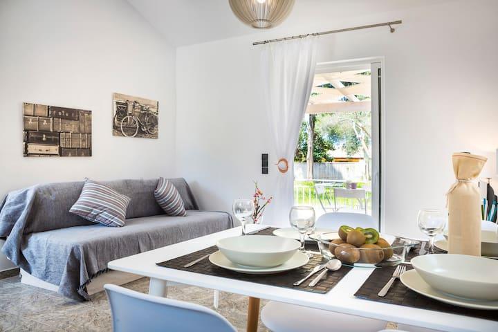 Villas with private garden near Avithos beach