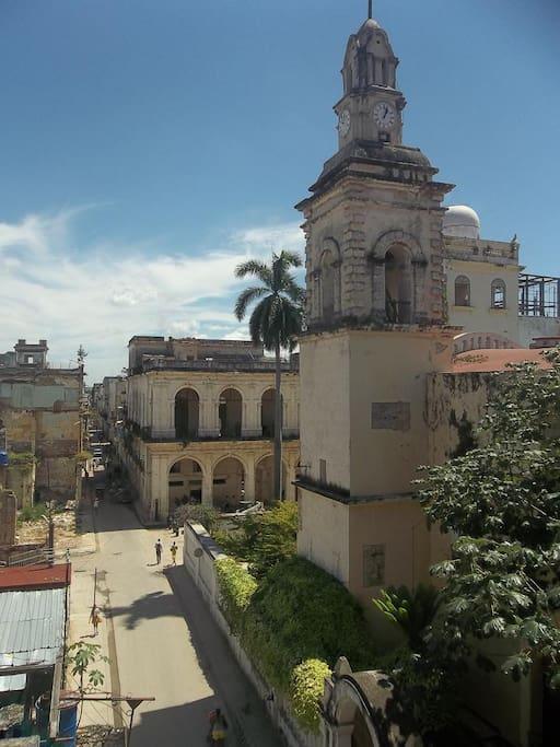 Una foto del barrio desde el balcón