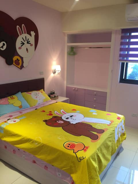 竹南主題式套房-熊大和兔兔