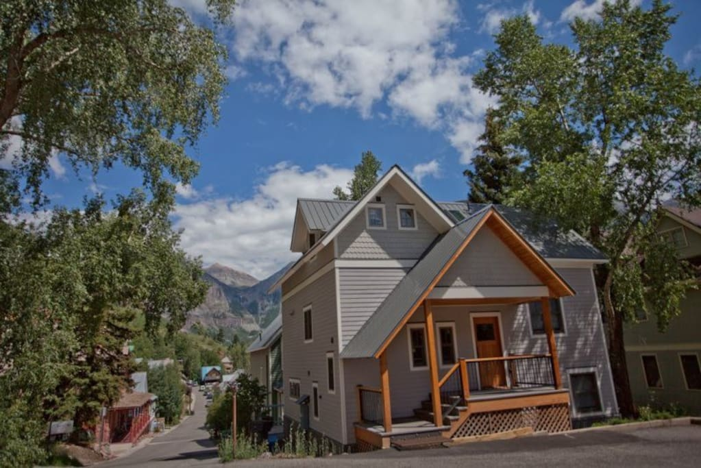 Located on the sunny side, downtown Telluride, walking distance to everything