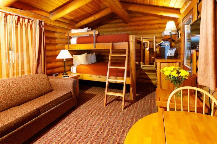 Double Queen Bunk Bed Log Cabin