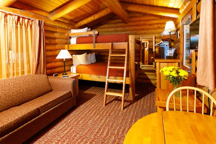 Double Queen Bunk Bed Log Cabin
