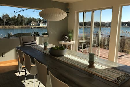 Chic waterfront home with private dock - Southold - Maison