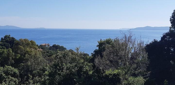 Bienvenue à l'Escapade avec sa vue mer.