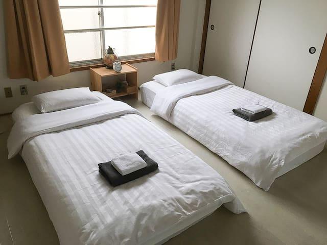 5large cozy room near subway,  5min-USJ/1min-namba