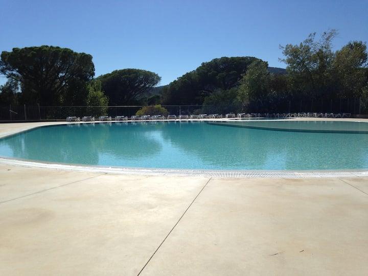 T3 rez de jardin arboré piscine Sainte Maxime