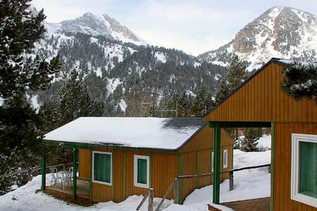 Bungalow aislado en alta montaña