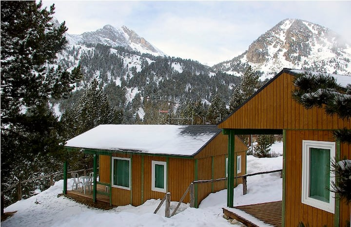 Bungalow a 2.000 mtr en estación de esquí Vallter