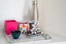 Nespresso coffee and organic teas