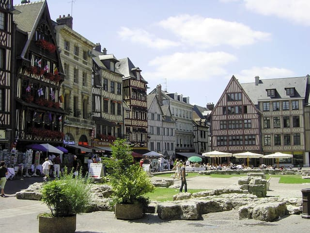 Chambre avec salle de bain prive centre ville - Rouen - Condominium