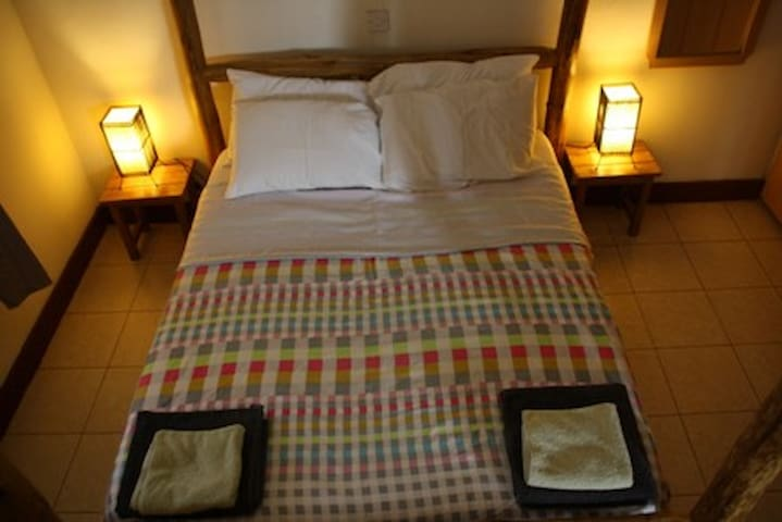 bedding and towels provided