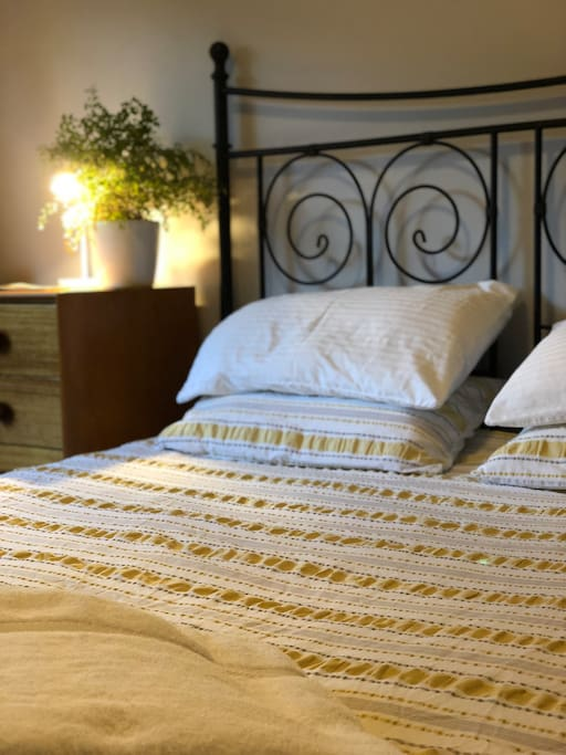 If you like cotton sheets and fluffy towels and a comfortable bed, than our place might be for you