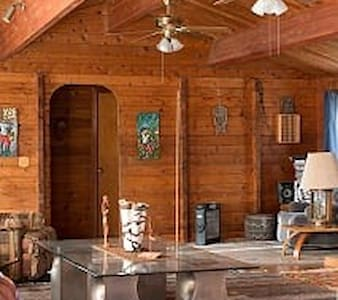 Charming Room in Cozy Log home  at end of the road